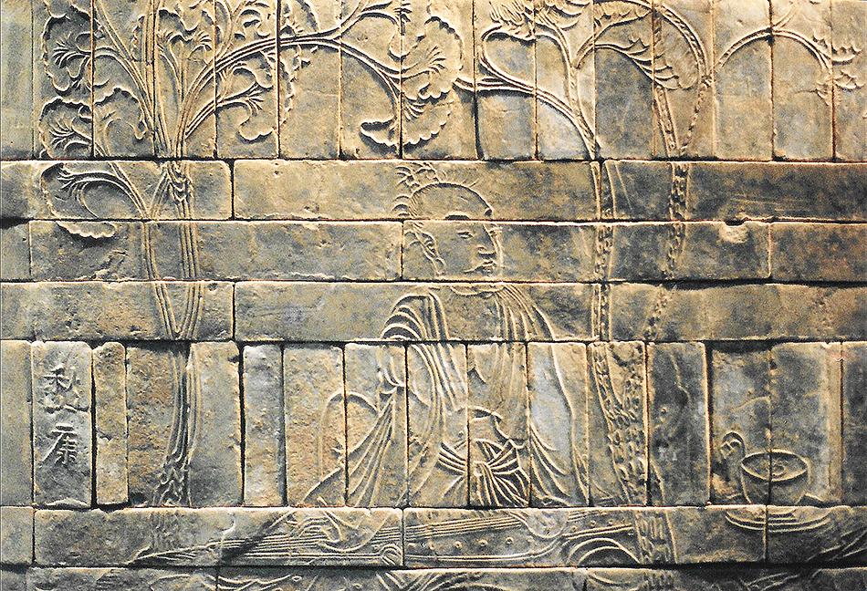 Bas-relief des Sept Sages de la forêt de Bambou (Musée de Nankin) - Ji Kang