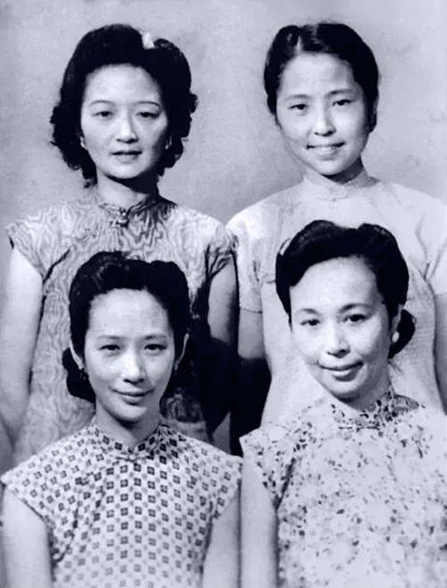 张家四才女成绝响,左上为张充和,右上为张兆和